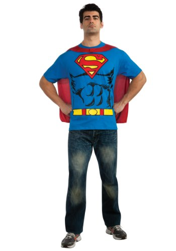 Rubies Mens Deluxe Comics Superman Shirt Theme Party No Scar Fancy Costume