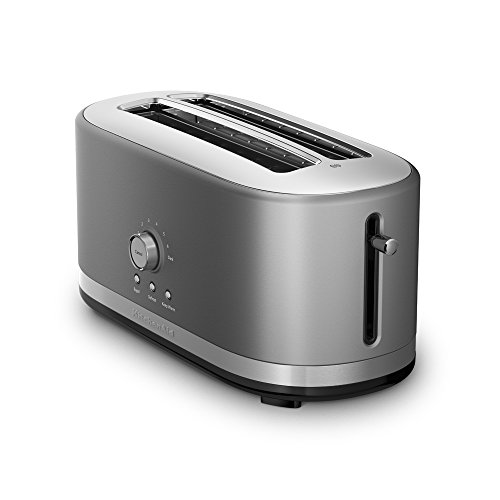 KitchenAid KMT4116CU 4 Slice Long Slot Toaster with High Lift Lever, Contour Silver (Slim Toaster compare prices)