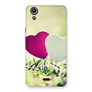Enticing Heart Couple Multicolor Back Case Cover for Micromax Canvas Selfie Lens Q345