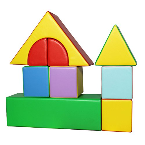 Kiddygem giant soft play blocks 9 pieces house toys for Foam building blocks for houses