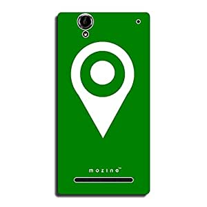 Mozine That's My Location printed mobile back cover for Sony xperia t2