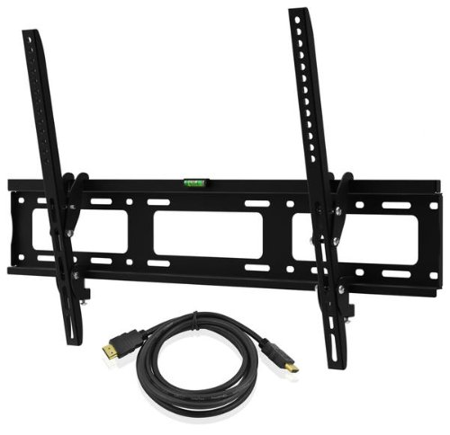 Ematic Emw6101 30-Inch To 60-Inch Tv Tilting Wall Mount Kit With Hdmi Cable - Black