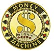 Hand Painted Poker Card Guard Protector - Money Machine