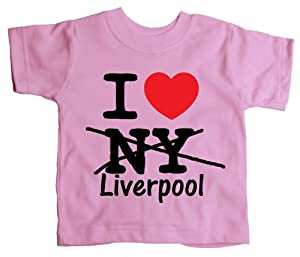 I Love Liverpool Baby Toddler Funny T Shirt from jonny cotton