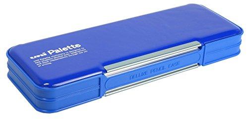 三菱鉛筆 筆箱 ユニパレット 両開きペンケース 青 P1000BT300