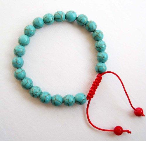 8mm Howlite Turquoisite Beads Tibetan Buddhist Mala Bracelet for Meditation Rosary | ElectMe Jewellery