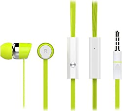 Inventis (TM) CELEBRAT S20 PREMIUM HIGH QUALITY TWISTED WIRE HANDSFREE HEADSET WITH MIC FOR iPHONE ANDROID SAMASUNG MI ONEPLUS MOTOROLA MOBILE MP3 MP4 PLAYERS GREEN