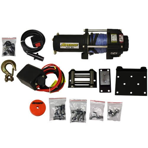 #1219 3500LB SYNTHETIC ROPE ATV WINCH