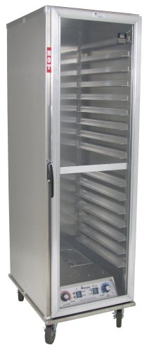Lockwood CA73-PF16-CD-R Aluminum Full Height Non-Insulated Mobile Proofing and Holding Cabinet with Removable Tray Supports and Clear Door, 16 Pan Capacity, 22-7/8