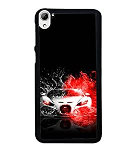 printtech Superfast Car Back Case Cover for HTC Desire 826