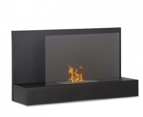 Ignis Ater Bk Wall Mount Ventless Ethanol Fireplace