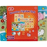 Chad Valley Farm Animals Kids Wooden Jigsaw Set