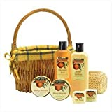 Orange Grove Bath Gift Basket Set Body Butter Lotion