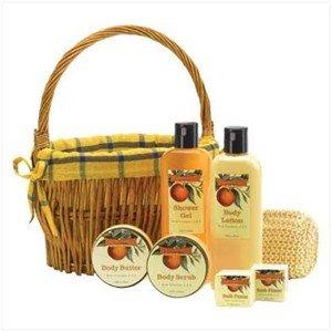 Orange Bath & Body Gift Basket