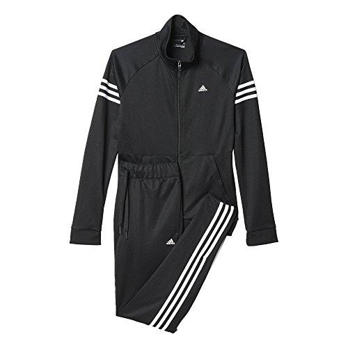 adidas damen trainingsanzug teamsport suit schwarz wei. Black Bedroom Furniture Sets. Home Design Ideas