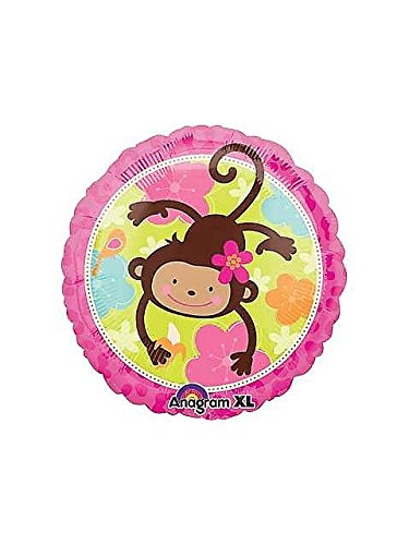 Pink Mod 'Monkey Love' Foil Mylar Balloon (1ct)
