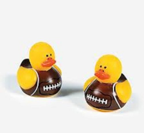 72 Vinyl Mini Football Rubber Duckies front-849527