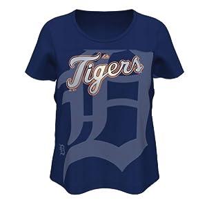 Detroit Tigers Ladies Team Fanatic T-Shirt by Majestic