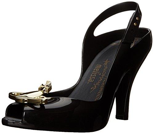 Vivienne Westwood & MelissaLady Dragon - Decolleté aperte sul retro con tacco donna , Nero (Black (50919-Black Orb)), 35.5