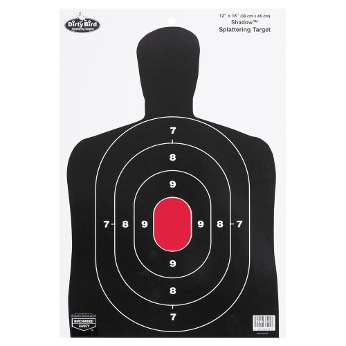 Birchwood Casey Dirty Bird BC27 Shadow Target (Pack of 8), 12×8-Inch, Black