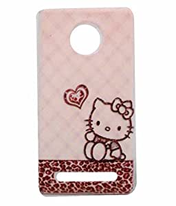 Exclusive Rubberised Back Case Cover for Yu Yuphoria YU5010 -Teddy