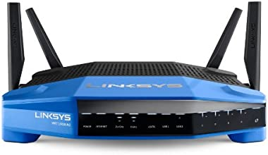 Linksys WRT1900AC Dual-Band+ Wi-Fi Wireless Router with Gigabit & USB 3.0 Ports and eSATA, Smart Wi-Fi Enabled to Control Your Network from Anywhere