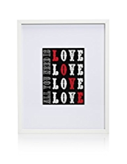Love Love Love Frame Wall Art