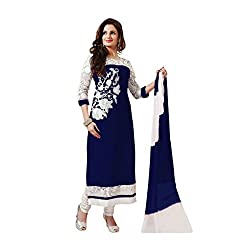 Fashionpulse4U Womens Georgette Salwar Suit Dress Material (ewhfmb01_blue_Free Size)