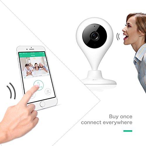 Cámara Vigilancia HD miSafes Vigilabebé Wi-Fi Monitor Remoto Seguridad Bebé Mascotas para iOS Android Móvil y Tablets