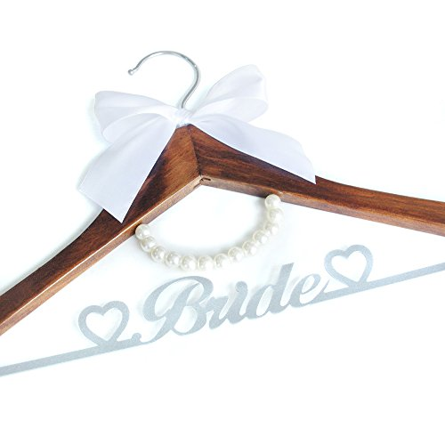 Personalized Wedding Hanger, Custom Bride Hanger, Bridal Dress Hanger, Wooden Hanger, Gifts for Bride