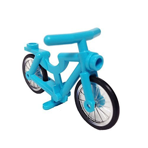 Lego Parts: Bicycle, Complete Assembly (Medium Azure)