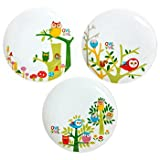Owl Owl Plates 3 Assorted Designs