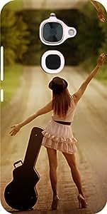 Dot Print Waiting Girl Printed Back Cover For LeEco Le 2
