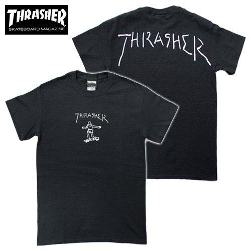 THRASHER×MARK GONZALES/GONZ PRINT S/S T-SHIRTS by Mark Gonzales(スラッシャー×マークゴンザレス/ゴンズプリント半袖Tシャツ) S BLACK