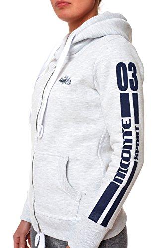 M.Conte Sweat-Jacket Hoodie hooded Rebecca Donna Felpa con cappuccio Bianco Taglia M