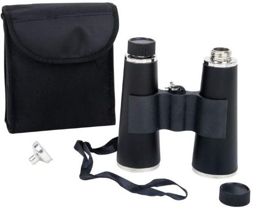"Maxam Binocular Flask *** Product Description: Maxam Binocular Flask. Features Two 8 Oz Stainless Steel Flasks That Fit In A Holder With Strap To Resemble A Pair Of Binoculars, And Carrying Case. Measures 5-1/2"" X 6"" X 2"". White Box. ***"
