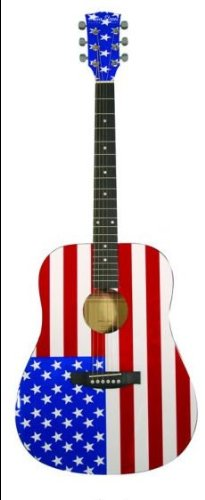 American Flag Acoustic Guitar