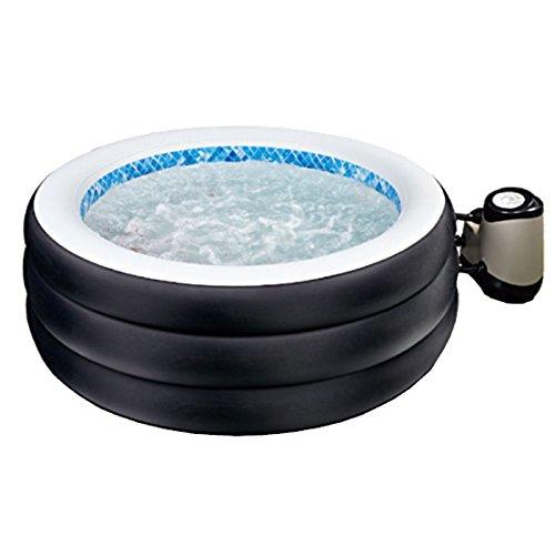 JL017330NG -P20 Avenli Spa Grand Rapid Klassic, aufblasbarer Whirlpool für 4 Personen, mit Abdeckung und Multi-Pumpe, Durchmesser 178 x 65 cm, schwarz