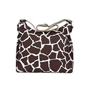 OiOi Giraffe Print Hobo Diaper Bag