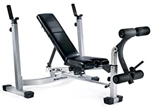 Nautilus Nt1430 Fold Up Olympic Weight Bench Sports Outdoors