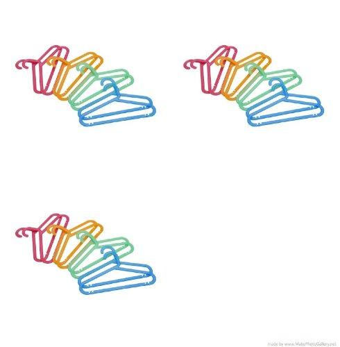 Ikea bagis children 39 s coat hanger assorted colors 24 for Ikea kids coat hangers