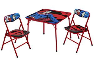 Warner Brothers Superman Table and Chair Set, 3-Piece by Warner Brothers