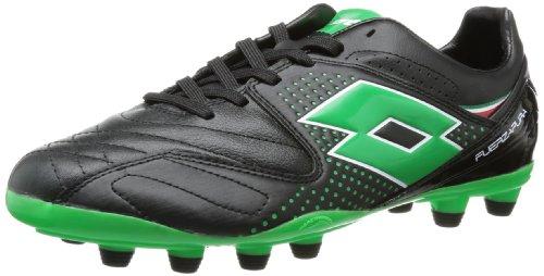 lotto-sport-fuerzapura-iv-300-fg-chaussures-de-football-homme-noir-schwarz-blk-metngreen-41-eu