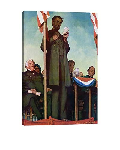 Norman Rockwell Abraham Lincoln Delivering the Gettysburg Address Giclée Print