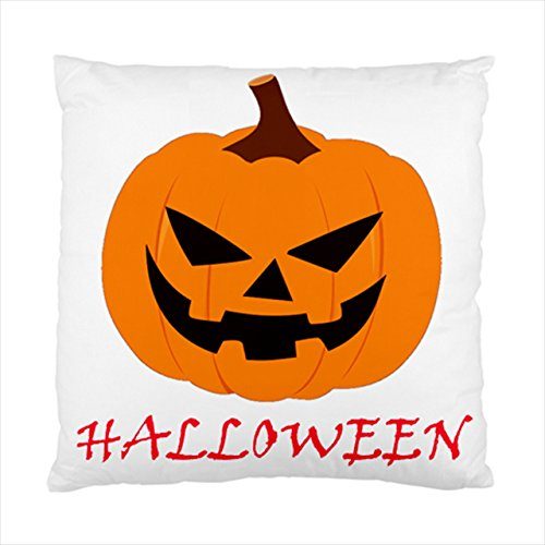[big pumpkin ghost halloween Square Throw Pillow Case Cushion Cover 17 x 17 Inches] (Vintage Blow Up Halloween Costumes)