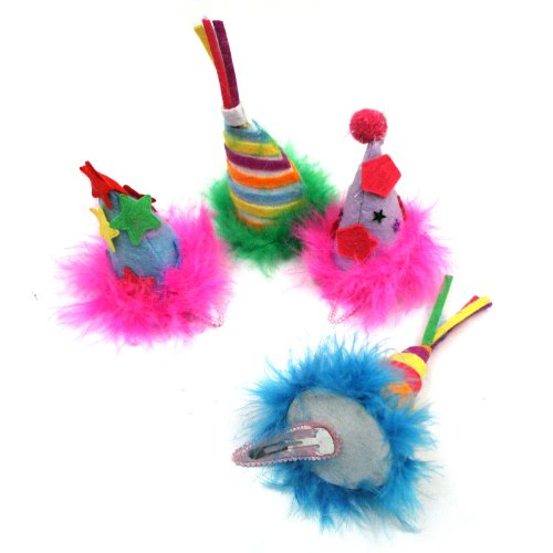 Happy Birthday Hat Barrettes Hair Clip in Assorted Colors, 1 Piece