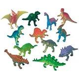 Pack of 12 Dinosaur Model Figures