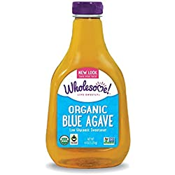Wholesome Sweeteners Organic Blue Agave, 44-Ounce Bottles (Pack of 2)