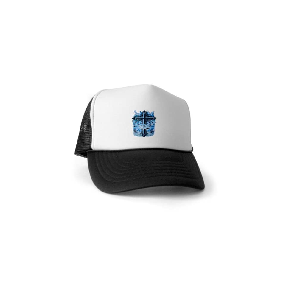 Artsmith, Inc. Trucker Hat (Baseball Cap) Holy Cross Doves And Bible