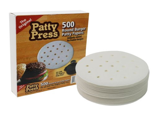 Hamburger Patty Paper - The Original Patty Press Patty Paper (500 Sheet Pack) - Unique Breathable Round Design for Perfect Patties Without Trapped in Moisture